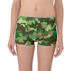 Camouflage Green Reversible Boyleg Bikini Bottoms