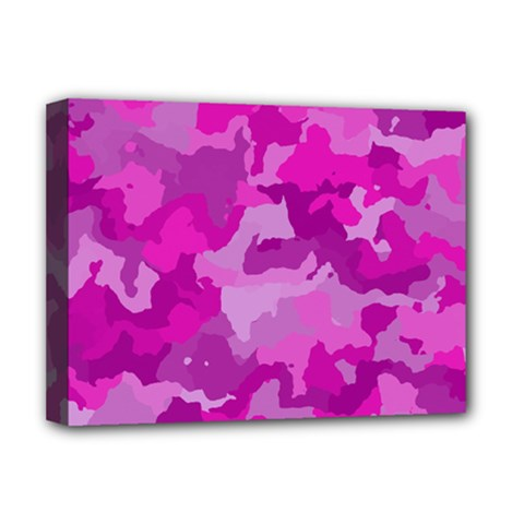 Camouflage Hot Pink Deluxe Canvas 16  X 12