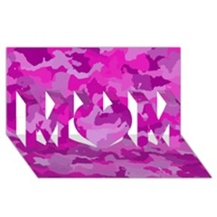 Camouflage Hot Pink Mom 3d Greeting Card (8x4)