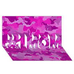 Camouflage Hot Pink #1 MOM 3D Greeting Cards (8x4)