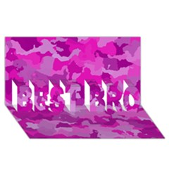Camouflage Hot Pink BEST BRO 3D Greeting Card (8x4)