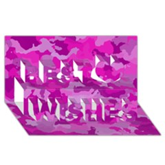 Camouflage Hot Pink Best Wish 3D Greeting Card (8x4)