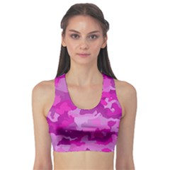 Camouflage Hot Pink Sports Bra