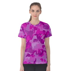 Camouflage Hot Pink Women s Cotton Tees