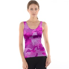 Camouflage Hot Pink Tank Tops