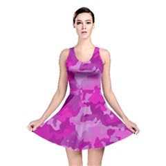 Camouflage Hot Pink Reversible Skater Dresses
