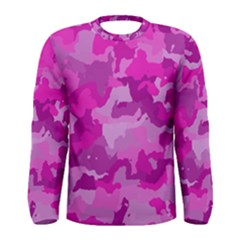 Camouflage Hot Pink Men s Long Sleeve T-shirts