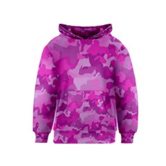 Camouflage Hot Pink Kid s Pullover Hoodies