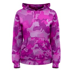 Camouflage Hot Pink Women s Pullover Hoodies