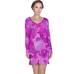 Camouflage Hot Pink Long Sleeve Nightdresses