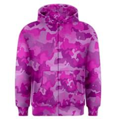 Camouflage Hot Pink Men s Zipper Hoodies