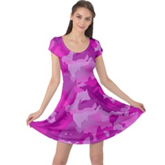 Camouflage Hot Pink Cap Sleeve Dresses