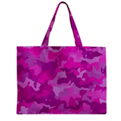 Camouflage Hot Pink Zipper Tiny Tote Bags