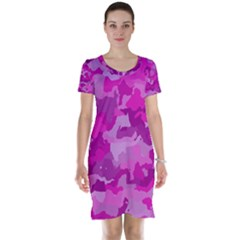 Camouflage Hot Pink Short Sleeve Nightdresses