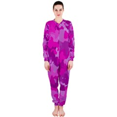 Camouflage Hot Pink OnePiece Jumpsuit (Ladies)