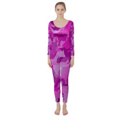 Camouflage Hot Pink Long Sleeve Catsuit