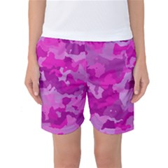 Camouflage Hot Pink Women s Basketball Shorts