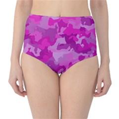 Camouflage Hot Pink High Waist Bikini Bottoms