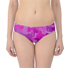 Camouflage Hot Pink Hipster Bikini Bottoms