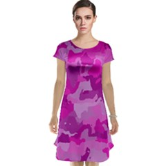 Camouflage Hot Pink Cap Sleeve Nightdresses