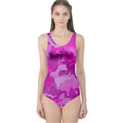 Camouflage Hot Pink Women s One Piece Swimsuits