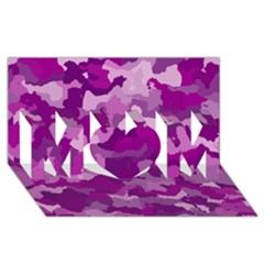 Camouflage Purple MOM 3D Greeting Card (8x4)