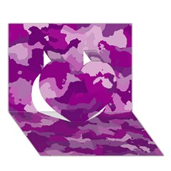 Camouflage Purple Heart 3d Greeting Card (7x5)