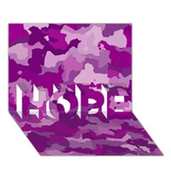 Camouflage Purple Hope 3d Greeting Card (7x5)