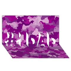 Camouflage Purple #1 DAD 3D Greeting Card (8x4)