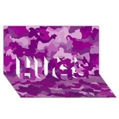 Camouflage Purple HUGS 3D Greeting Card (8x4)