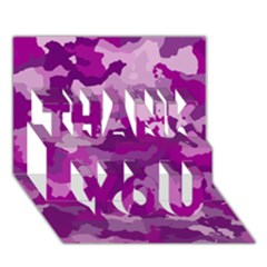 Camouflage Purple THANK YOU 3D Greeting Card (7x5)