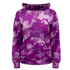 Camouflage Purple Women s Pullover Hoodies