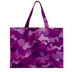 Camouflage Purple Zipper Tiny Tote Bags