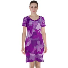 Camouflage Purple Short Sleeve Nightdresses