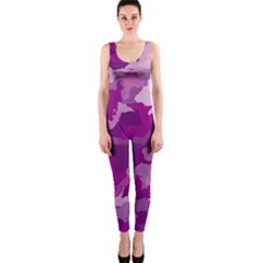 Camouflage Purple OnePiece Catsuits