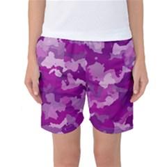 Camouflage Purple Women s Basketball Shorts