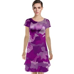 Camouflage Purple Cap Sleeve Nightdresses