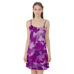 Camouflage Purple Satin Night Slip