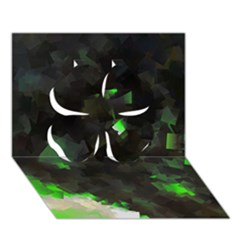 Space Like No.7 Clover 3D Greeting Card (7x5)