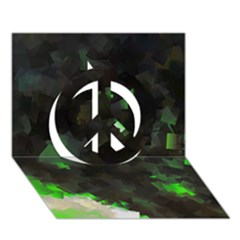 Space Like No.7 Peace Sign 3D Greeting Card (7x5)
