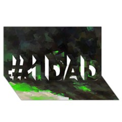 Space Like No 7 #1 Dad 3d Greeting Card (8x4)