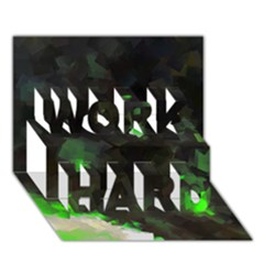Space Like No 7 Work Hard 3d Greeting Card (7x5)