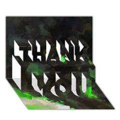 Space Like No.7 THANK YOU 3D Greeting Card (7x5)