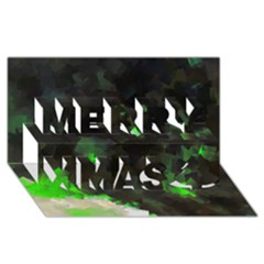 Space Like No 7 Merry Xmas 3d Greeting Card (8x4)