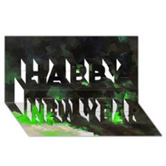 Space Like No 7 Happy New Year 3d Greeting Card (8x4)