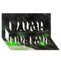 Space Like No.7 Laugh Live Love 3D Greeting Card (8x4)