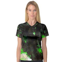 Space Like No 7 Women s V Neck Sport Mesh Tee