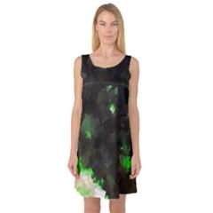 Space Like No.7 Sleeveless Satin Nightdresses