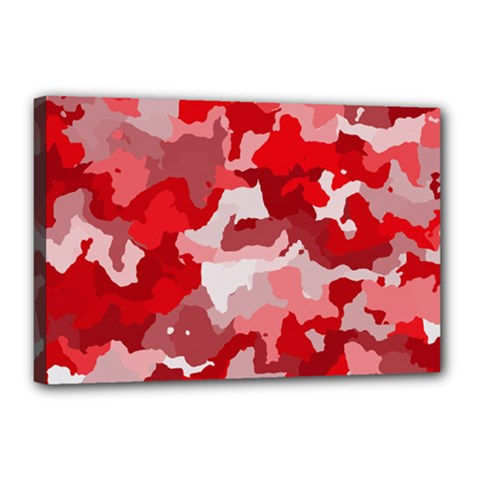 Camouflage Red Canvas 18  X 12