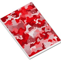 Camouflage Red Large Memo Pads